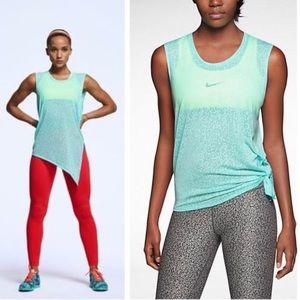 Nike Mezzo Side Tie Tank in Turquoise Leopard L/XL